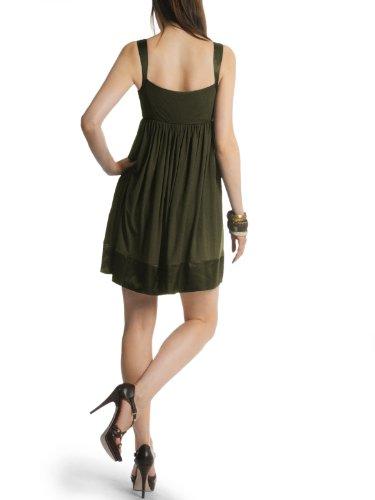 Miss Sixty vestido Dress Tirantes vestido Babydoll Talia satén negro) Verde