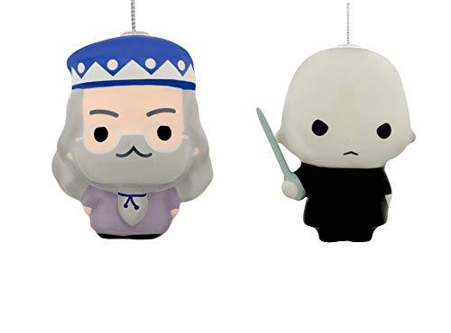 HallmarkHarry Potter Lord Voldemort & Albus Dumbledor Decoupage Christmas Ornament Set (Set Ornament Decoupage)
