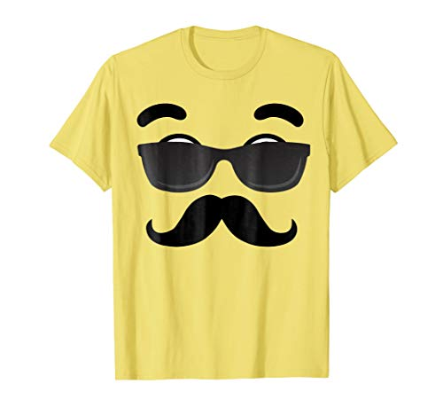 Halloween Emojis Costume Shirt Emoticon Beard ()