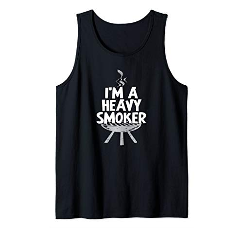I'm A Heavy Smoker BBQ Grilling Summer Meat Pig Fun Gift Tank Top