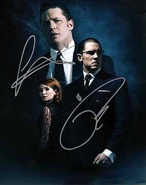 LEGEND (Tom Hardy & Emily Browning) 8x10 Cast Photo Signed In-Person