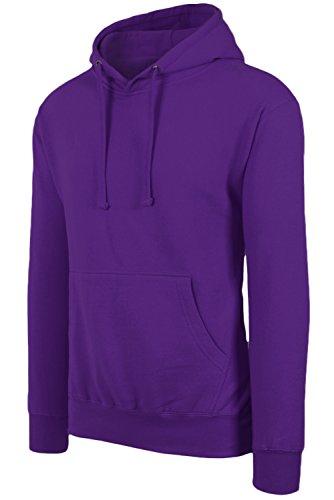 Men's Hipster Hip Hop Basic Unisex Pullover Hoodie Purple Sweatshirts 3XL Big Size by JC DISTRO