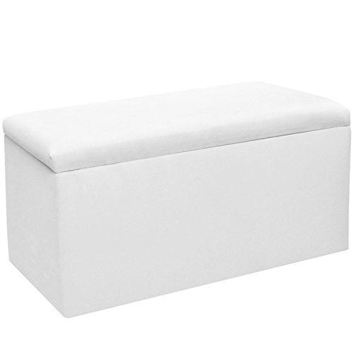 Skyline Furniture Kids Storage Bench in Duck White by Skyline Furniture