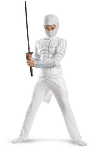 G.i. Joe Retaliation Storm Shadow Classic Muscle Costume, White, Large