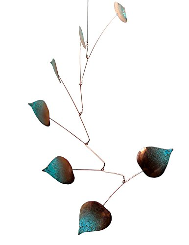 - Modern Artisans Aspen Leaves Spinning Copper Mobile Indoor Outdoor, Standard 7-Leaf Version, American Made