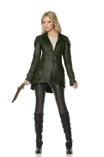 Mystery House Gretel Witch Hunter Deluxe Costume, Green/Black, Large (Adult Gretel Costume)