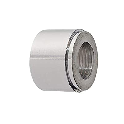 """ICT Billet Aluminum 3/8"""" NPT Weld On Bung Female Nut Threaded Insert Weldable Weldable Taper Pipe Thread Connector Fluid Designed & Manufactured in the USA Bare 617-6703AL: Automotive"""