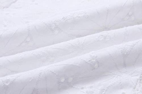 pour Longues Femmes dnudes Sixcup T paules Blouse Manches Dentelle Blanc en Shirt qxZORB