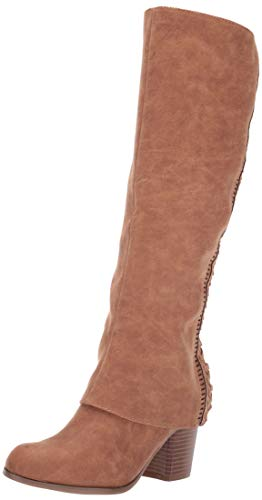 Fergalicious Women's Tender Knee High Boot, tan, 8 M US