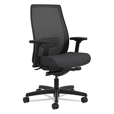 HON Endorse Mid-Back Task Chair - Mesh Back Computer Chair for Office Desk, Black (HLWM)