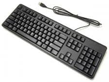 Dell Wired Keyboard - Black KB216 (580-A…