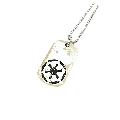 Star Wars Imperial Symbol Dogtags Necklace w/Gift Box by Superheroes (Rebel Devil Costume)