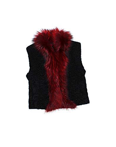 813622 New Black Persian Lamb Fox Fur Vest Jacket Coat Stroller ()