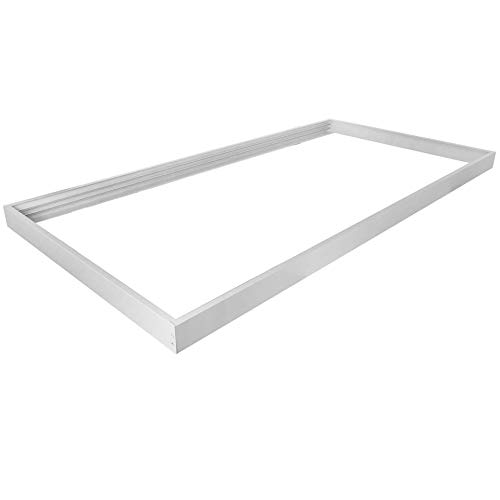 (10 Pack) WHD Energy 2x4FT LED Panel Surface Mount, Surface Mounted kit for 2X4FT LED Flat Panel Drop Ceiling Light, Troffer Surface Mounting Kit White, Panel Drywall Kit (Flange Kit)