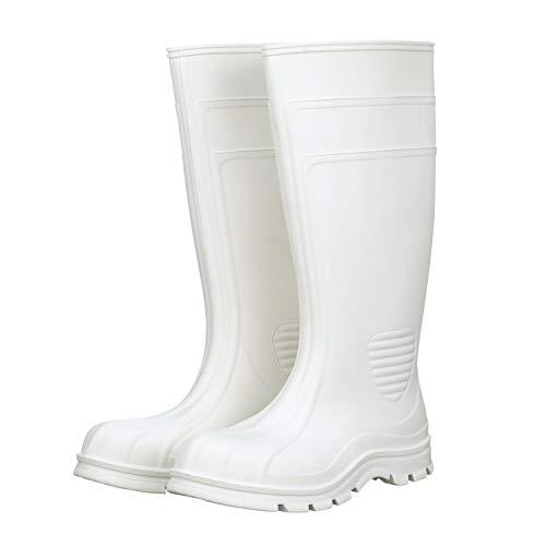 Heartland Footwear 15 White Waterproof Boot, Plain Toe
