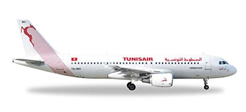 HE527828 Herpa Wings Tunisair A320 1:500 Model Airplane