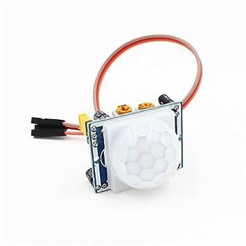 Piroeléctrico movimiento pir módulo detector sensor de infrarrojos w / cable de 3 pines para Arduino