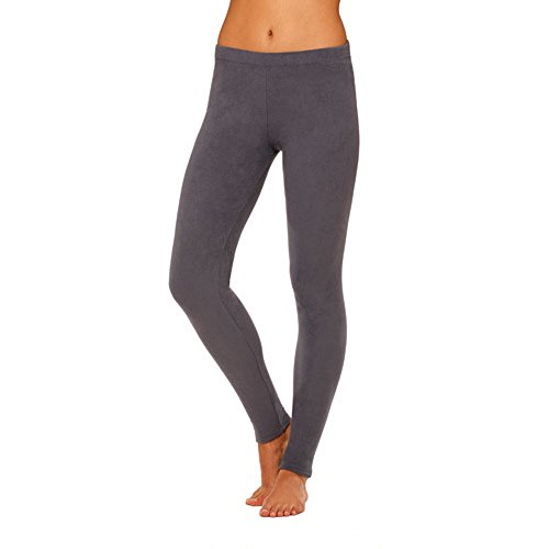 - Cuddl Duds ClimateRight Women's Stretch Fleece Warm Underwear Leggings/Pants (S, Grey)