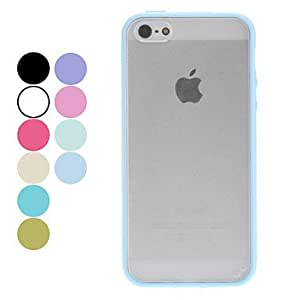 SJT Transparent Frosted Hard Case for iPhone 5/5S (Assorted Colors) , Green