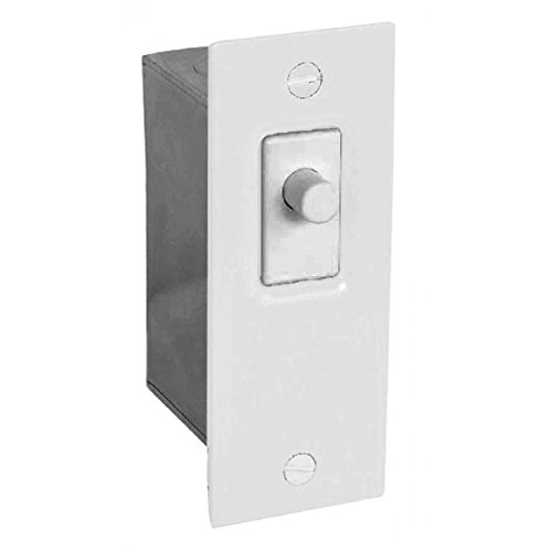 1 Pc, Steel, Powder Coated White Door Jamb Switch Kit For Indoor Use On Sliding Or Hinged Doors
