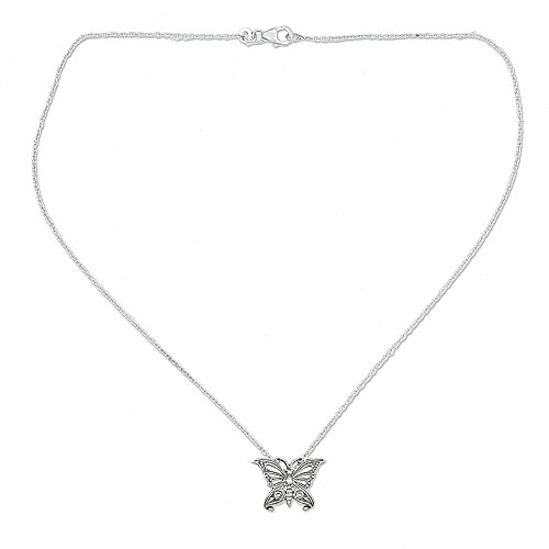 NOVICA .925 Sterling Silver Pendant Necklace, 18.5