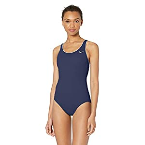 Nike Women's Solid Powerback One Piece Swimsuit