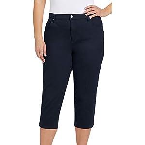 Gloria Vanderbilt Women's Plus Size Amanda Capri Jeans, Tulum, 20W