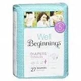 Well Beginnings Premium Diapers Jumbo, 5 27 Ea