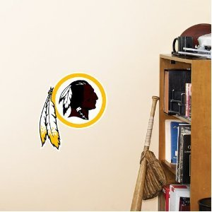 NFL Washington Redskins Logo Fathead Wall Decal, 15 x (Washington Redskins Nfl Wall)