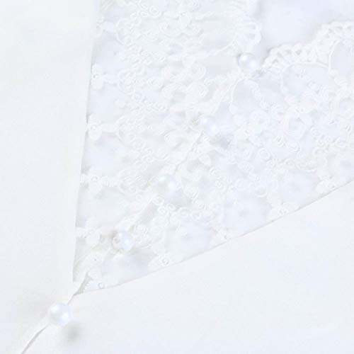Femme ud Women Kanpola Chemisier Blanc Col n sans Tie Dye cass Manche qgvAv64