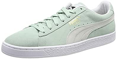 Puma Suede Classic Shoes 5 D(M) US Fair Aqua-puma White