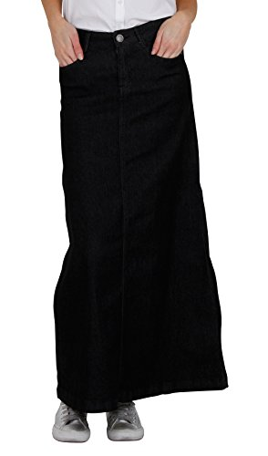 Donna Jeans Other Lunga Di Nero Gonna Denim skirt59 xvqfxB