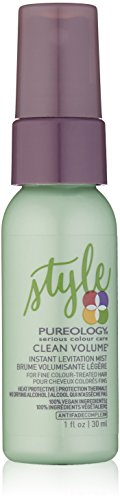 Pureology | Clean Volume Instant Levitation Mist | Leave-In Spray | All-Day Volume | For Fine, Color Treated Hair | Vegan | 1.0 oz.