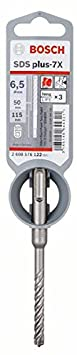 6 x 400 x 465 mm Argent Bosch 2608576121 Foret pour marteau-perforateur SDS-plus-7X