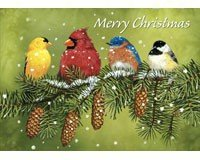 Tree-Free Greetings TFG14456 Snowy Feathered Friends Christmas Christmas Greetings Friend