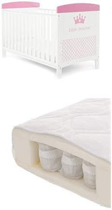 Obaby Grace Inspire Cot Bed and Dual Core Breathable Mattress Little Princess
