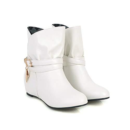 Corti Arrotondata Interna Boots Con Donna White Stivaletti Da Women's Punta wTCORqqn