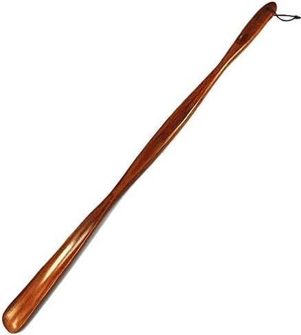軽量 Strape男性をぶら下げでエクストラロング取扱木製靴べらアンチスキップ 耐用 (Color : Brown, Size : 75cm)