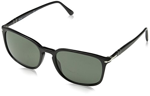 Persol  Men's 0PO3158S Black/Polarized Green One - Made Italy In Persol Sunglasses