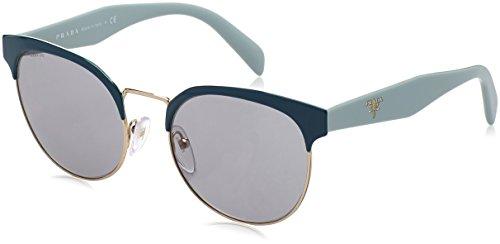 Prada Unisex 0PR 61TS Sunglasses, Black/Pale Gold/Grey Gradient, 54mm ()