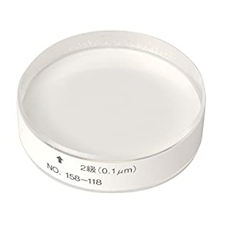 Mitutoyo 158-118 Optical Flat, 12mm Thickness, 0.1 micrometer Flatness, 45mm Diameter