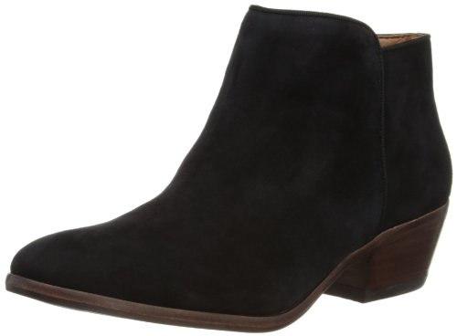 Sam Edelman Women's Petty Ankle Bootie, Black Suede, 9 M US