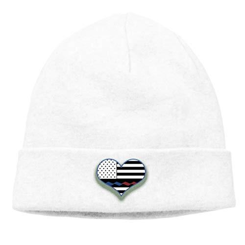 MIPU SHANGMAO Thin Blue Line Flag Beanie Cap Soft Warm Hat Hedging Caps Wool Cap Men Women