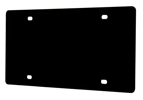 Marketing Holders Laser Cut Acrylic Blank License Plate Black Qty 1 ()