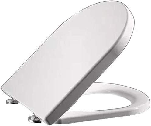 Djyyh 抗菌PPボードと便座が遅くミュートUは便座をシェイプのトップマウントトイレの蓋をきれいに簡単に超耐性、ホワイト-45〜47センチメートル* 36センチメートル