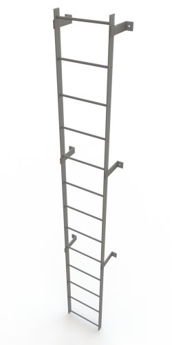 Tri-Arc WLFS0113 13-Rung Standard Uncaged Fixed Steel Ladder