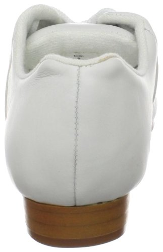 Danza Classe Donna Cs401 Split Sole Jazz / Intasamento Oxford Bianco