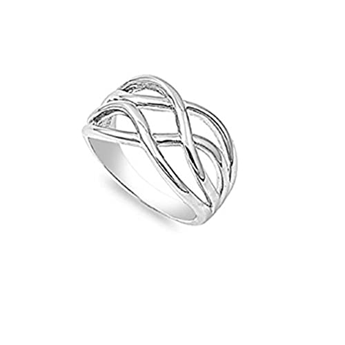 sterling silver wiccan mystic creativity ring size 7 - Wiccan Wedding Rings