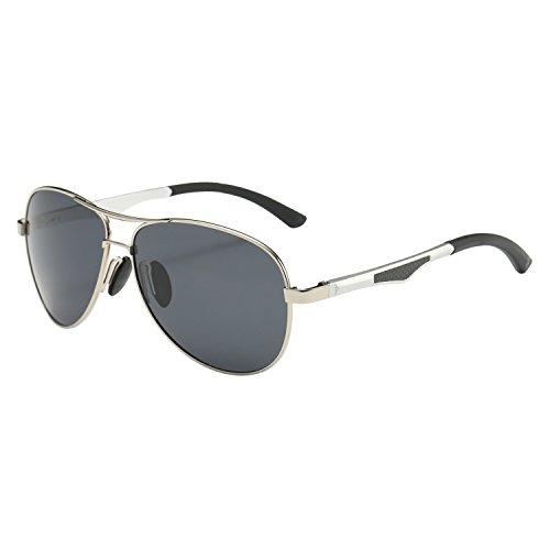 Gray Pilot Sunglasses - 7
