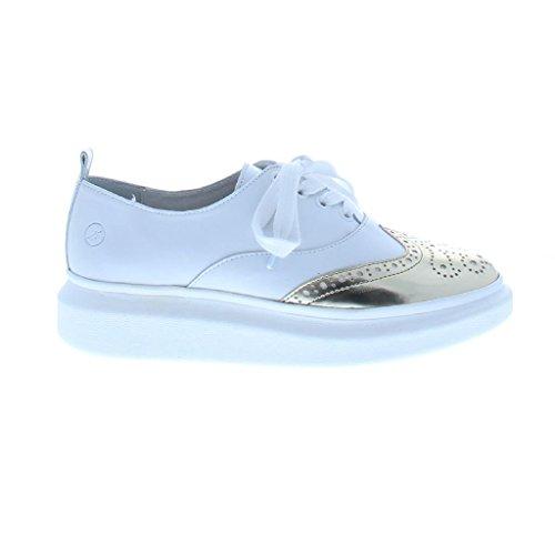 Bronx Damen BX 939 Sneaker platin/weiß